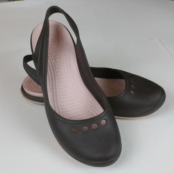 dfce19868baa5 crocs Shoes - Crocs Skylar Slingback Brown and Pink Wm 10